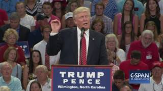 Donald Trump on Hillary Clinton and the Second Amendment (C-SPAN)