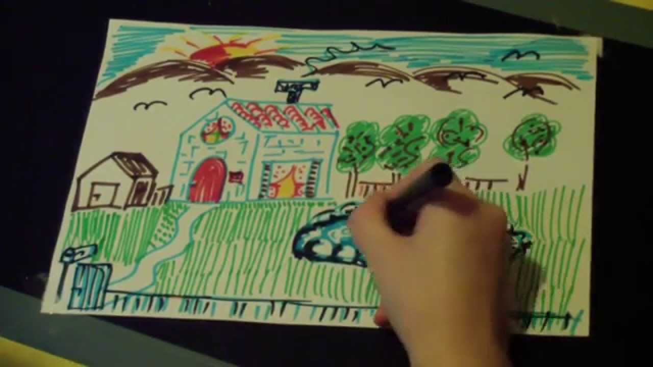 My garden drawing for kids images for My dream house drawing