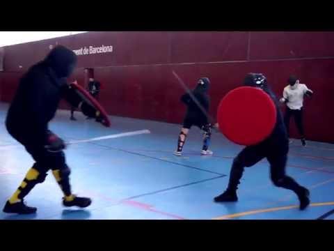 Sword and Rotella HEMA Free Sparring - Benedetto Colombo VS Alberto Bomprezzi