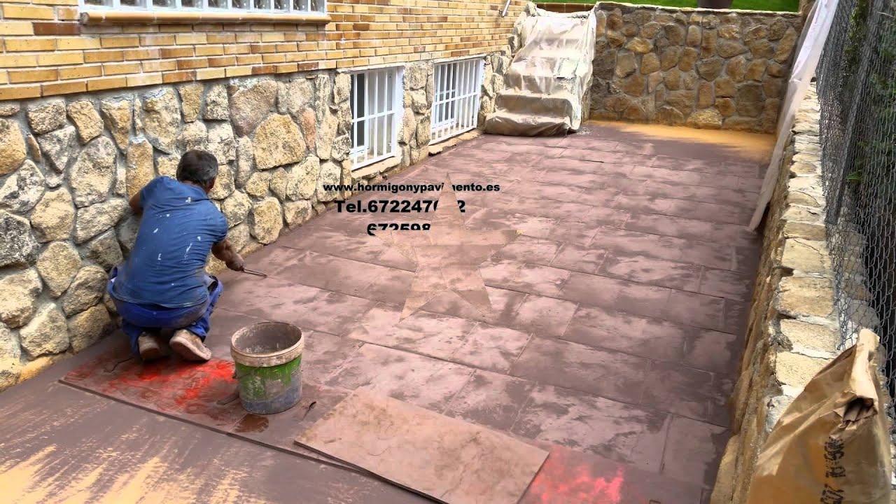 Obras casas particulares hormigon impreso argamasilla de for Hormigon impreso youtube
