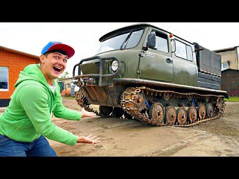 Купили на аукционе буханку - танк! УАЗ буханка на гусеницах!