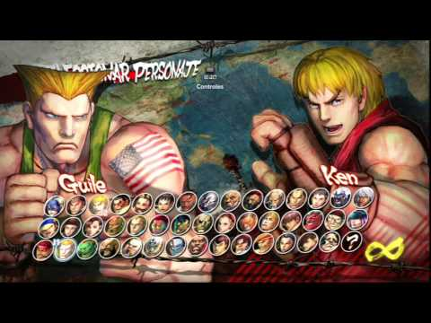 Ultra Street Fighter IV: Selección de Personaje.