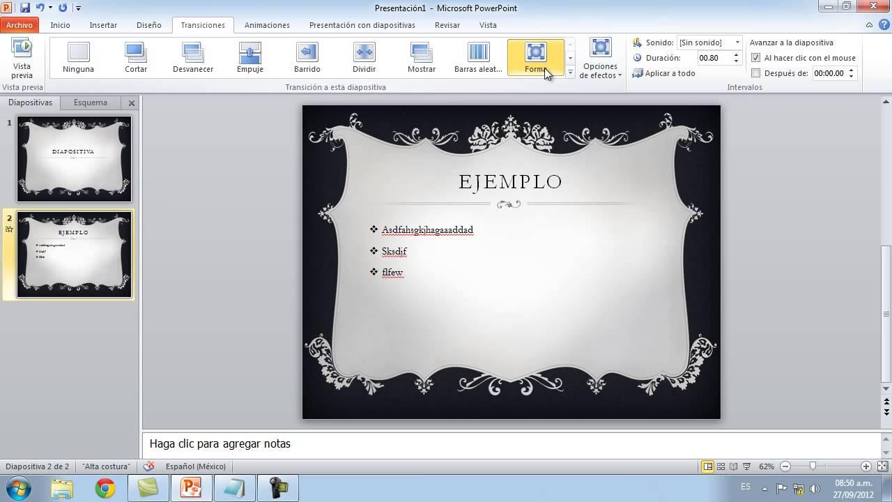 Como hacer presentaciones en powerpoint y poner dise os for Disenos de powerpoint