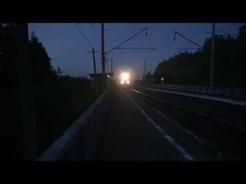 Электровоз ЭП1М с поездом № 095 Барнаул - Москва