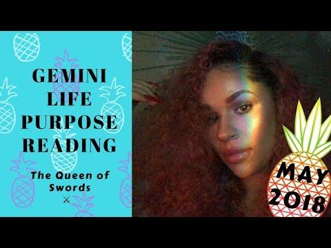 "GEMINI MAY LIFE PURPOSE 🍍 READING ""THE QUEEN OF SWORDS..."" 2018"