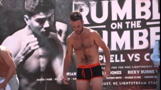 CARL CHADWICK v KRISTIAN LAIGHT - OFFICIAL WEIGH IN VIDEO (FROM HULL) / RUMBLE ON THE HUMBER