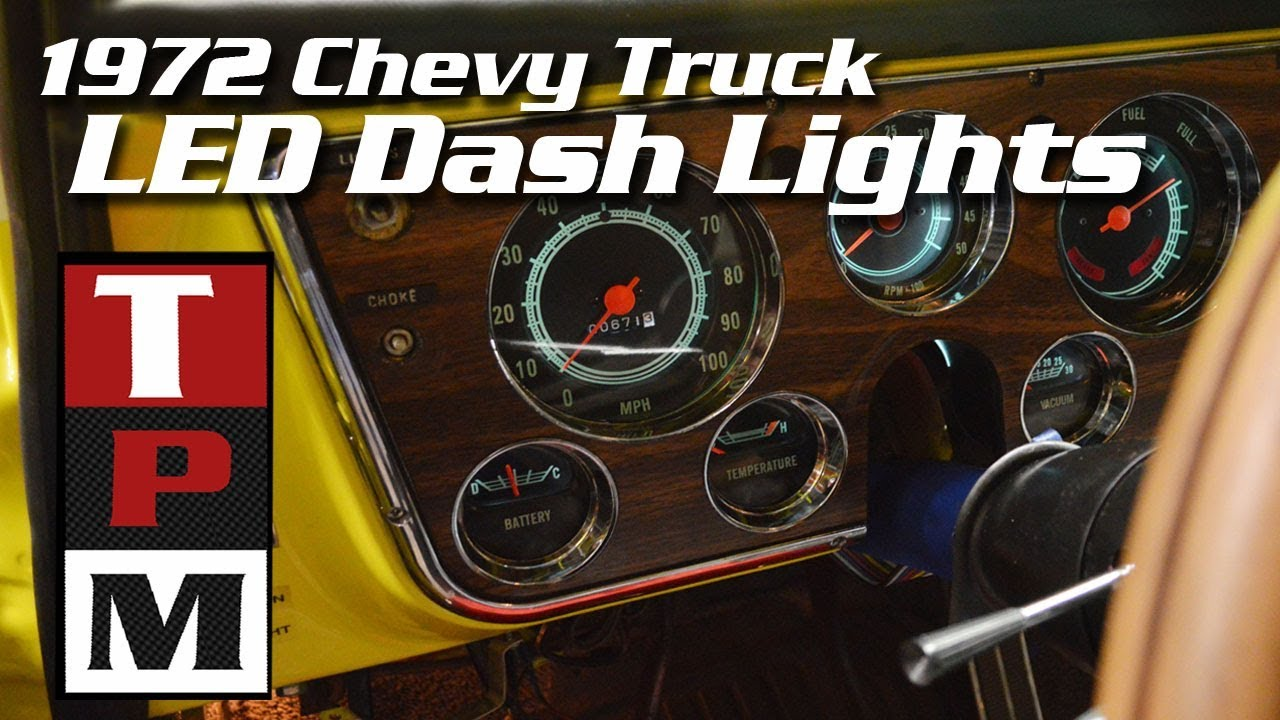 1968 1972 Chevrolet And Gmc Truck Instrument Panel Wiring Chevy Gauge Cluster Led Dash Lights In A Youtube Rh Com