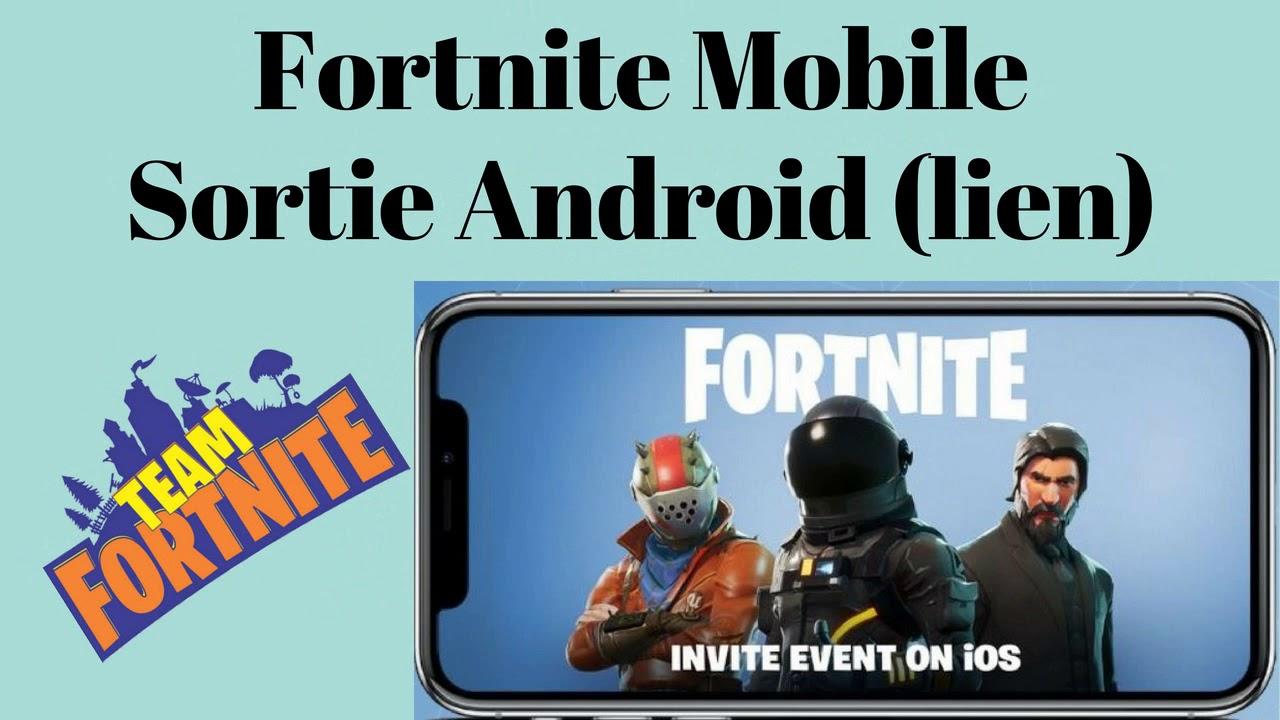 fortnite android apk comment installer fortnite battle royale sur android download link youtube. Black Bedroom Furniture Sets. Home Design Ideas
