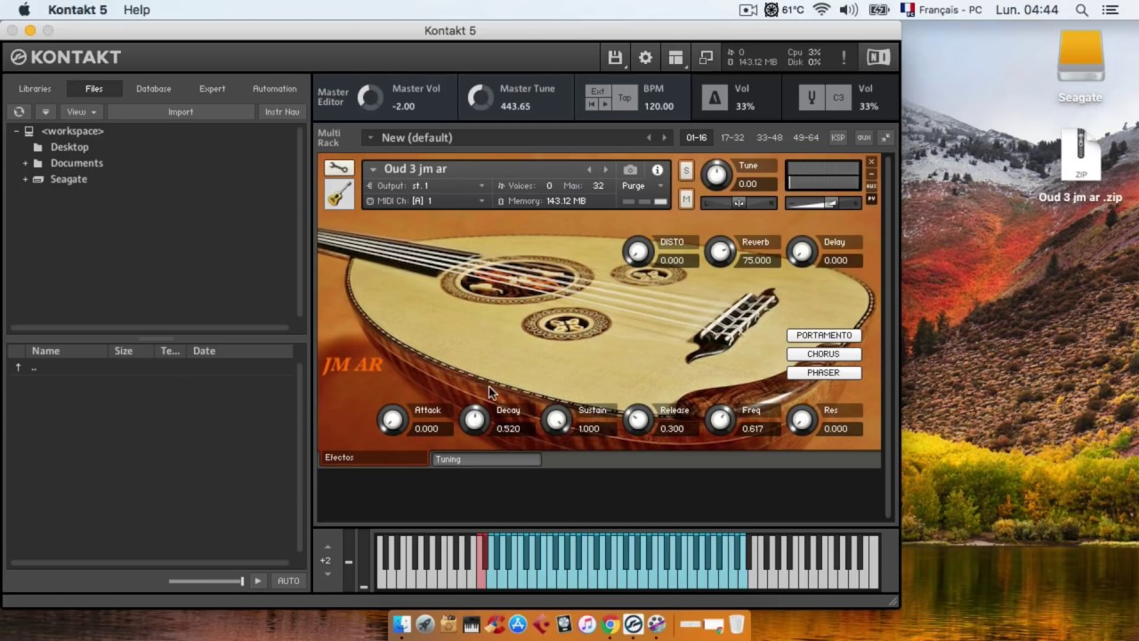 lute free oud native instrument kontakt 5 عود لايف مجانا