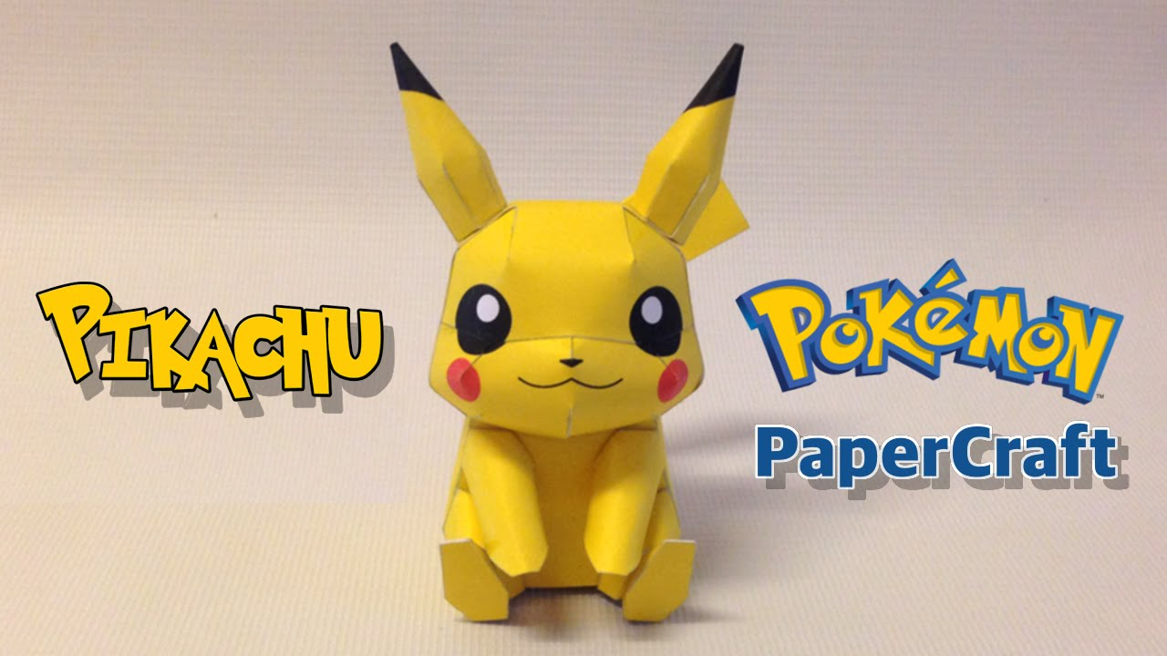 Pokemon PIKACHU Papercraft