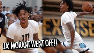 JA MORANT CRAZY DUNKS IN FRONT OF HIGH SCHOOL BASKETBALL TEAM THAD!