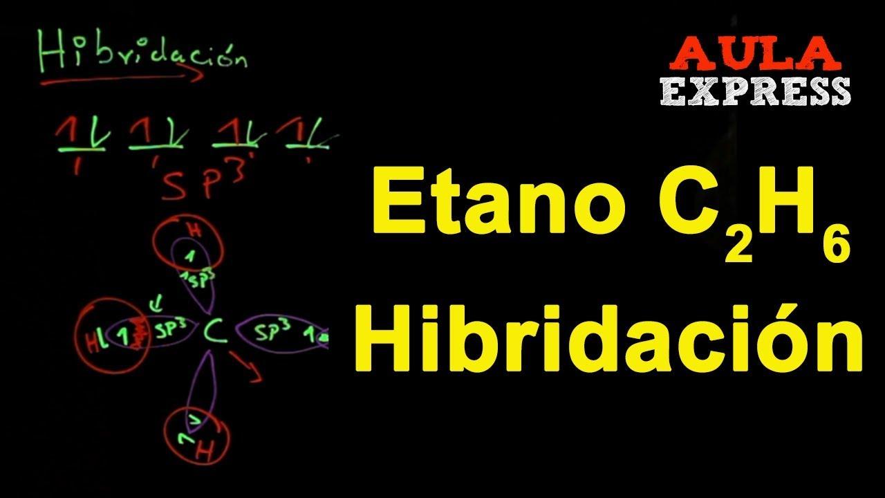 Química Hibridacion Molécula Del Carbono Etano C2h6 Sp3 Bachillerato Aulaexpress