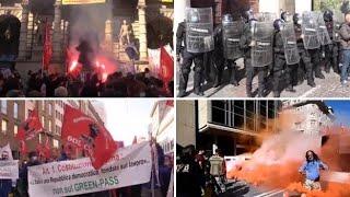Sciopero generale: cortei, proteste, lancio di uova e fumogeni - I video