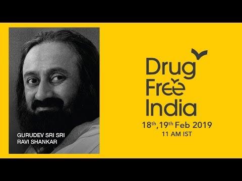 18 Feb: Drug Free India Launch with Gurudev Sri Sri Ravi Shankar, Chandigarh University, Chandigarh