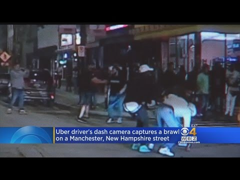 Uber Driver's Dashboard Camera Records Wild Brawl Outside NH Bar, Leading To Arrests