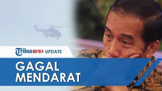 Video Detik-detik Helikopter yang Ditumpangi Jokowi Gagal Mendarat saat Tinjau Banjir di Bogor
