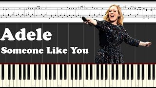 Ноты для Фортепиано: Adele - Someone Like You