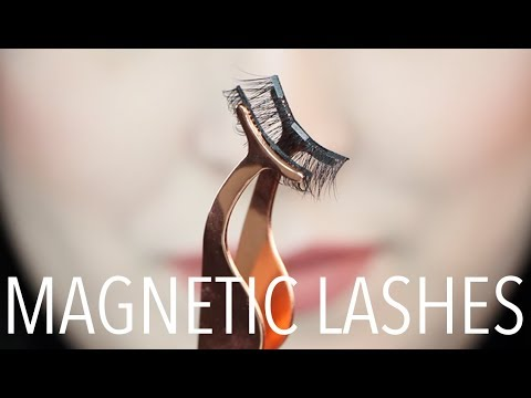 MAGNETIC LASHES!? FALSE LASH EXTENSIONS WITH NO GLUE!!