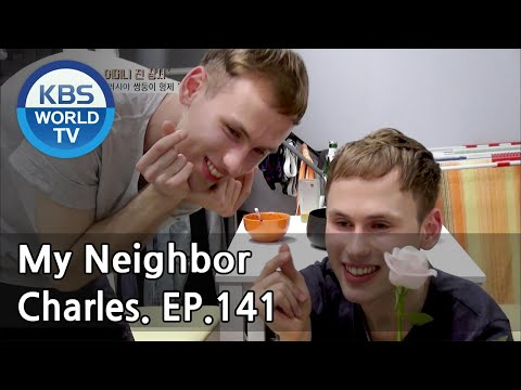 My Neighbor, Charles   이웃집 찰스 - Ep.141 Decalcomania Twins Geny & Oleg from Russia. [ENG/2018.05.25]