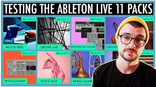 Testing Out The NËW Ableton Live 11 Packs! | Inspired By...
