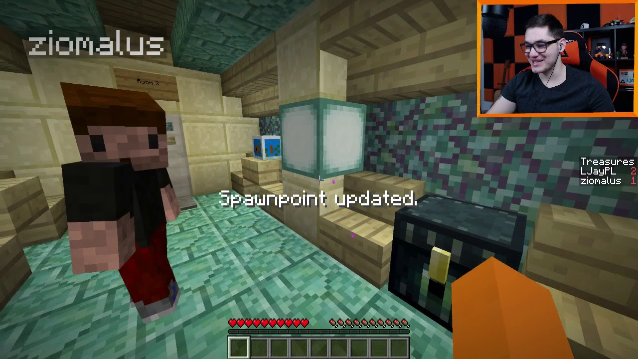 """Minecraft: Prismarine Lab #1 – """"Epickie łamigłówki!"""" w/ Zio"""