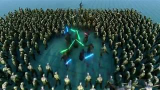 UEBS - Fight For Humanity ! 10 Jedi VS 1000 Zombies [ Ultimate Epic Battle Simulator ]