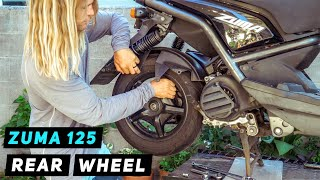 Yamaha Zuma / BWS 125 Rear Wheel Removal | Mitch's Scooter Stuff