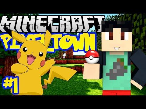 Minecraft: Pixelmon 4.0.5 - PixelTown Adventure Series w/ FaceCam #1 - PIKACHU, I CHOOSE YOU!