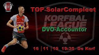 TOP/SolarCompleet 1 tegen DVO/Accountor 1, zaterdag 16 november 2019