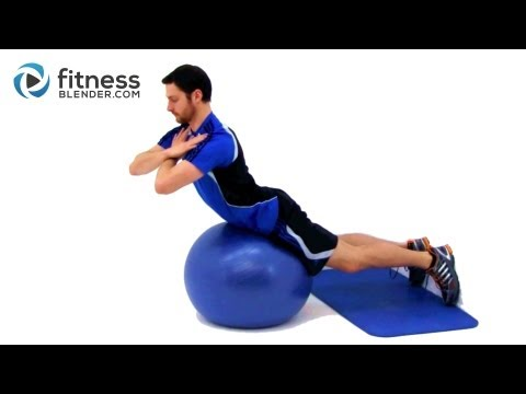 Total Body Physio Ball Workout - PhysioBall Exercises