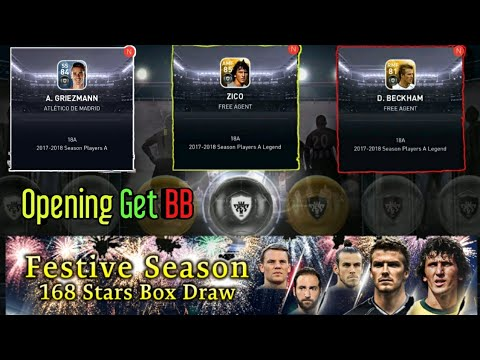 PES 2018 | Opening GET BB di Festive Season 168 Stars Box Draw