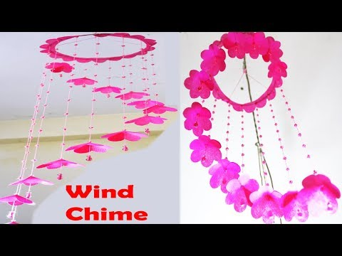 How To  Make A Fabric Bag Wind Chime || DIY Shopping Bag Crafts