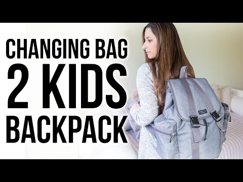WHAT'S IN MY CHANGING BAG FOR 2 KIDS | STORKSAK TRAVEL BACKPACK | Ysis Lorenna