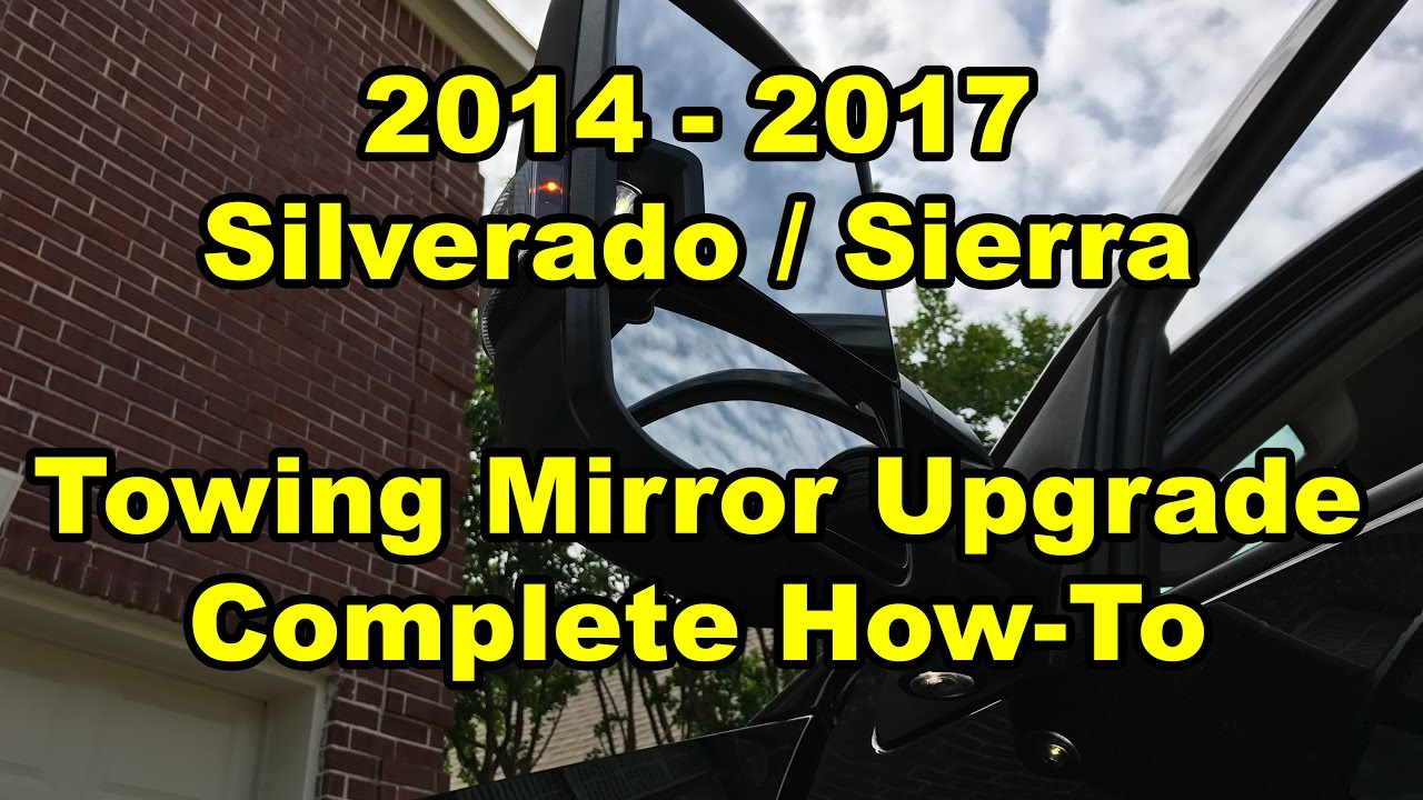2014 2017 Gm Silverado Sierra Towing Mirror Upgrade Youtube Dodge Camper Wiring Harness