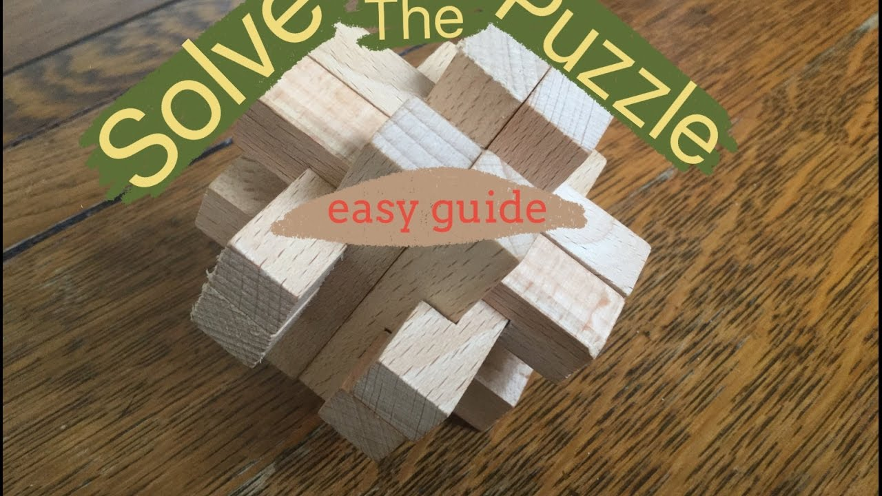 How To Solve 12 Piece Square Wooden Puzzle Solution