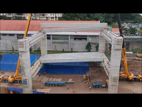 Concrete Beam Launching - Tandem Lifting Method
