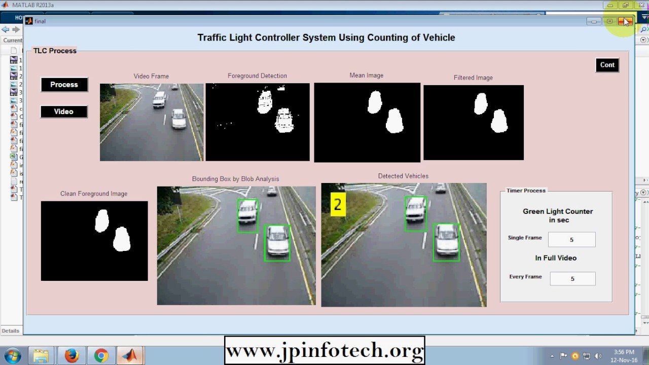 Traffic Light Contoller System using Counting of Vehicles in MATLAB