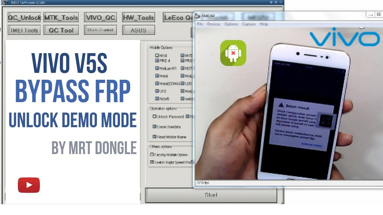 Vivo v5s Remove FRP lock Fix Demo Mode Done by Mrt Dongle - D'PONSEL