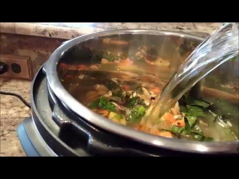 How long do i cook vegetable soup in the instant pot