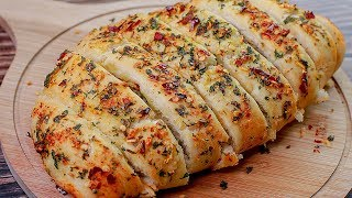 Garlic Bread Recipe | Dominos Garlic Bread | Eggless without Oven | Snacks Recipe | Toasted