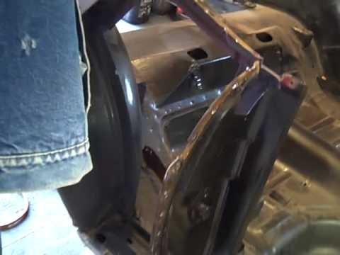 1969 Mustang Quarter Panel Replacement Part 1  YouTube