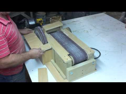 Homemade Belt Sander 5 The Finished Sander Youtube