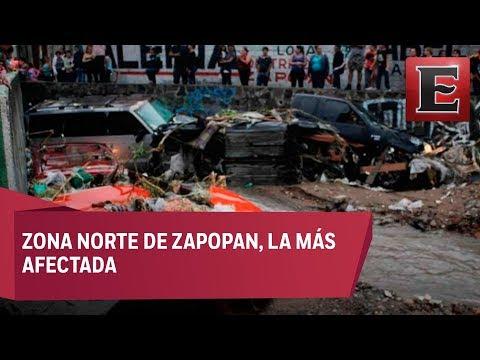 Intensas lluvias en Jalisco por el huracán Bud