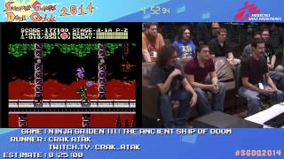Summer Games Done Quick 2014 - Part 133 - Ninja Gaiden III: The Ancient Ship Of Doom