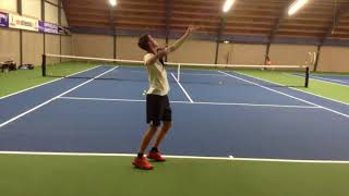 College tennis recruiting video of Max available Spring 2019