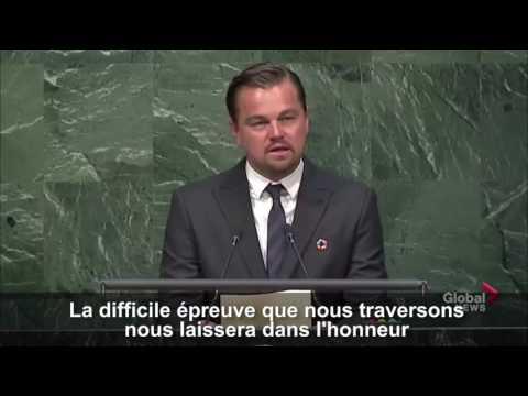Leonardo DiCaprio compare l'accord sur le climat à l'abolition de l'esclavage en citant Lincoln