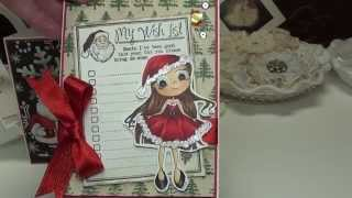 Wow.....3 months of cards, Whimsy Stamps, CC Designs, Christmas cards