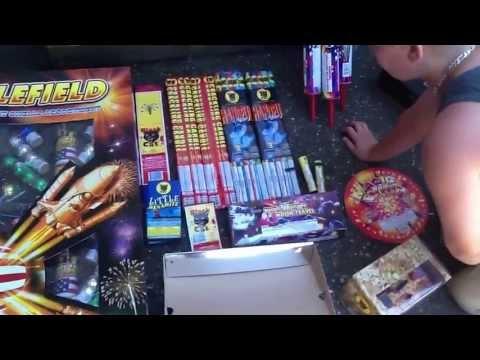 My 2013 firework stash video i spent a total $300