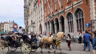 Bruges, the capital of West Flanders in northwest Belgium.