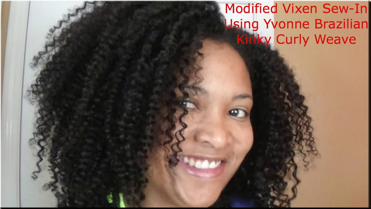 Modifed Vixen Sew In Using Yvonne Brazilian Curly Weave On Natural